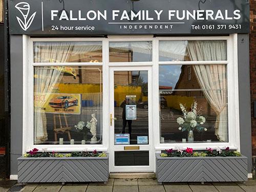 Fallon Family Funerals Manchester - Shopfront