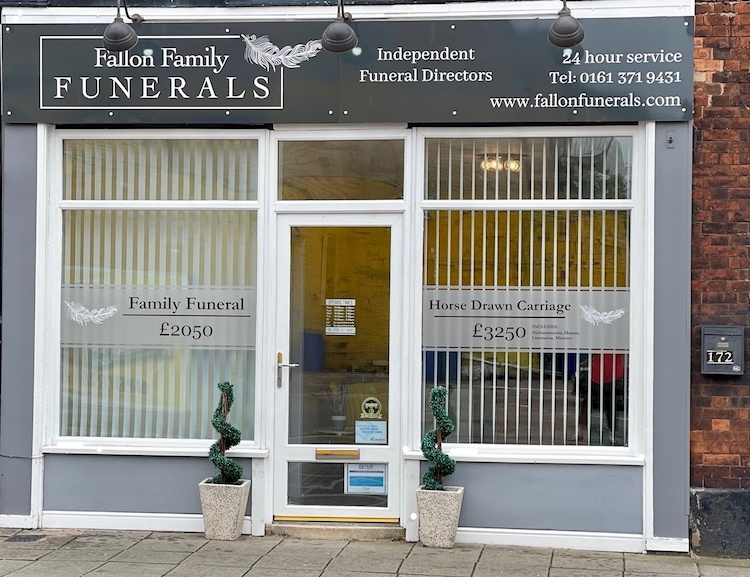 Fallon Family Funerals Manchester - Shopfront (2)